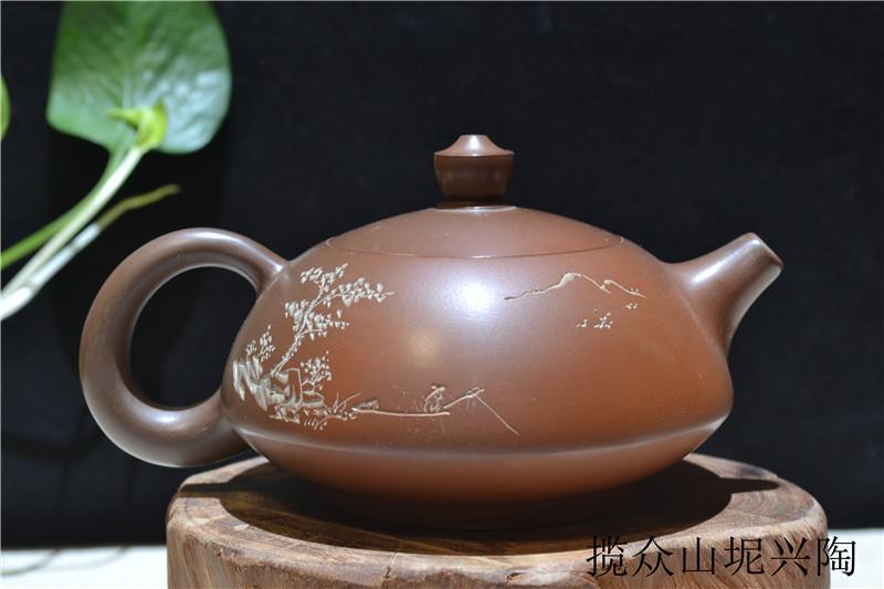 广西坭兴陶茶壶窑变壶