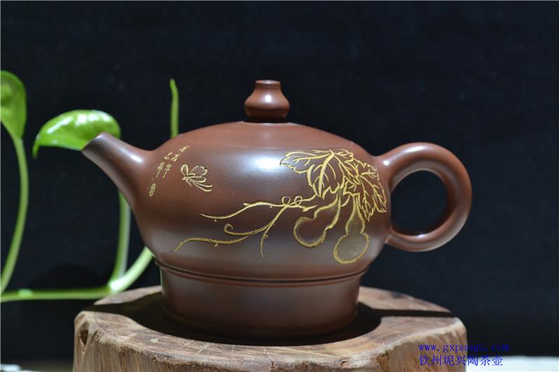 广西坭兴陶茶壶